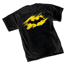 Image: Batman T-Shirt: Sketch Symbol  (L) - Graphitti Designs