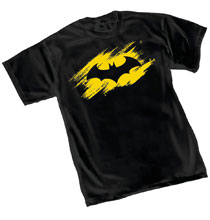 Image: Batman T-Shirt: Sketch Symbol  (XL) - Graphitti Designs