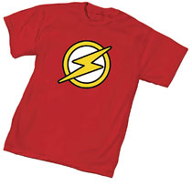 Image: Justice League Unlimited T-Shirt: Flash Symbol  (S) - Graphitti Designs