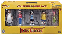 Image: Bob's Burgers Collectible 5-Pack Figure Set 12-Piece Display  - Ucc Distributing