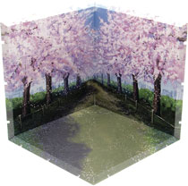 Image: Dioramansion 150 Figure Diorama: Cherry Blossom Road  - Plm
