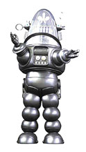 Image: Forbidden Planet Die-Cast PX Figure: Robby Robot  (Silver) - X Plus
