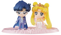 Image: Sailor Moon Petit Chara: Neo Queen & King 2-Pack Figure Set  - Megahouse Corporation