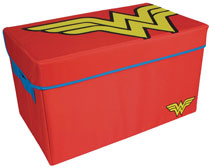 Image: Wonder Woman Collapsible Toy Trunk  - Everything Mary LLC
