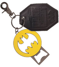 Image: DC Metal Bottle Opener / Keychain: Batman Symbol  - Bioworld Merchandising