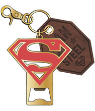 Image: DC Metal Bottle Opener / Keychain: Superman Symbol  - Bioworld Merchandising