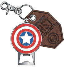 Image: Marvel Metal Bottle Opener / Keychain: Captain America  - Bioworld Merchandising