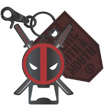 Image: Marvel Metal Bottle Opener / Keychain: Deadpool  - Bioworld Merchandising