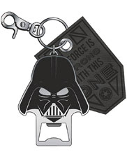 Image: Star Wars Metal Bottle Opener / Keychain: Darth Vader  - Bioworld Merchandising