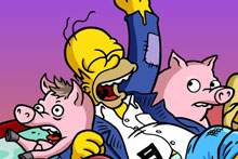 Image: Simpsons Comics Vol. 17: Hit the Road SC  - Bongo Comics