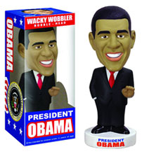 Image: President Obama Wacky Wobbler Bobble-Head  -