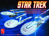 Image: Star Trek U.S.S. Enterprise Starship Model Set  -