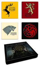Image: Game of Thrones: Set of Four Sigil Coasters  - Dark Horse