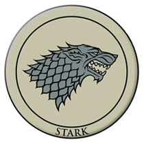 Image: Game of Thrones Embroidered Patch: Stark  - Dark Horse