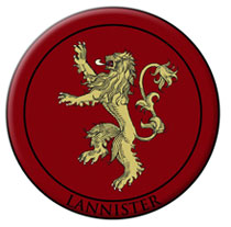 Image: Game of Thrones Embroidered Patch: Lannister  - Dark Horse