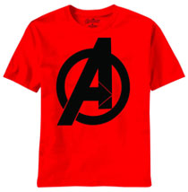 Image: Avengers Movie: Bold Logo PX T-Shirt [Red]  (L) -