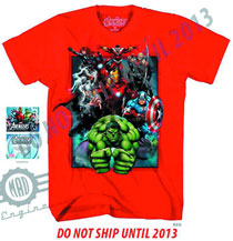 Image: Avengers Assemble: Boxed In T-Shirt [Red]  (L) - Marvel Heroes Apparel