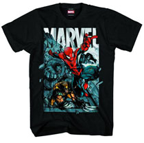 Image: Marvel Heroes: An Homage To T-Shirt [Black]  (M) - Marvel Heroes Apparel