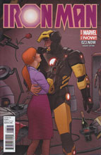 Image: Iron Man 23.NOW (variant cover - Quinones) - Marvel Comics
