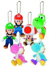Image: Super Mario Bros. 5-inch Plush Keychain Assortment  -