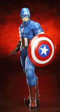 Image: Avengers Marvel NOW! Captain America Artfx+ Statue - 1/10 Scale Pre-Painted Model Kit  -