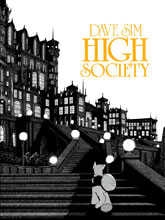 Image: Cerebus Book 02: High Society 30th Anniversary Gold Logo Signed & Numbered Edition SC  - Aardvark Vanaheim