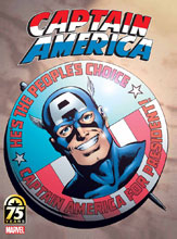 Image: Captain America 75th Anniversary Magazine #1 (Byrne cover) - Marvel Comics