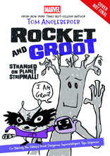 Image: Rocket & Groot Young Reader Novel: Stranded on Planet Stripmall  - Marvel Press