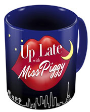 Image: Muppets Mug: Up Late with Miss Piggy  - Diamond Select Toys LLC