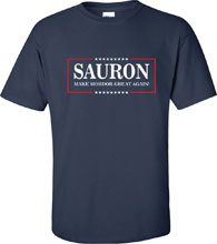 Image: Lord of the Rings T-Shirt: Sauron Make Mordor Great [Navy]  (S) - Off World Designs
