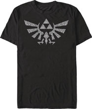 Image: Legend of Zelda T-Shirt: Symbolled Crest [Black]  (M) - Fifth Sun