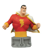 Image: JLA Animated Series Resin Bust: Shazam!  - Diamond Select Toys LLC