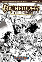 Image: Pathfinder: Spiral of Bones #1 (cover E incentive - Galindo B&W) (10-copy) - Dynamite
