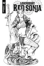 Image: Legenderry Red Sonja Vol. 02 #2 (cover B incentive - Benitez B&W) (10-copy) - Dynamite