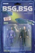 Image: BSG vs. BSG #3 (cover C - Tigh Action Figure) - Dynamite