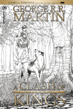 Image: George R. R. Martin's A Clash of Kings #9 (cover C incentive - Miller B&W) (10-copy) - Dynamite