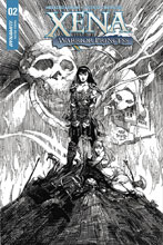 Image: Xena: Warrior Princess Vol. 04 #2 (cover E incentive - Finch Blood Red Art) (25-copy)  [2018] - Dynamite