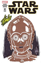 Image: Star Wars #1 (DFE signed - Stan Lee) (Haeser Sketch edition) - Dynamic Forces
