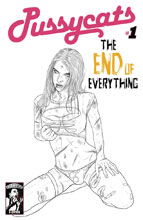 Image: Pussycats: End of Everything #1 (variant cover - Dead Girl B&W) - E-Comix