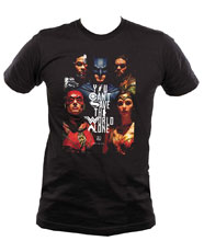 Image: Justice League T-Shirt: Save the World  (XL) - Graphitti Designs