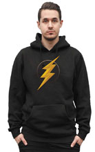 Image: Justice League Hoodie: Flash Symbol II  (XL) - Graphitti Designs