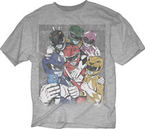 Image: Mighty Morphin Power Rangers T-Shirt: Ranger Selfie [Oxford]  (M) - Changes