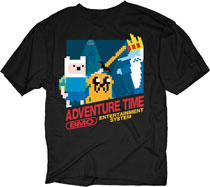 Image: Adventure Time T-Shirt: 8-Bit Adventure [Black]  (XXL) - Changes