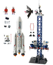 Image: Playmobil Space Play-Set: Rocket  (w/Launch Site) - Playmobil Usa