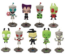 Image: Invader Zim Buildable Figures 24-Piece Blind Mystery Box Display  - Ucc Distributing