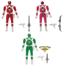 Image: Mighty Morphin Power Rangers Legacy Head Morph Action Figure Assortment B  - Bandai America