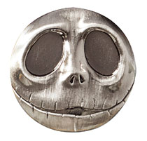 Image: Nightmare Before Christmas Deluxe Pewter Lapel Pin: Jack Head  - Monogram Products
