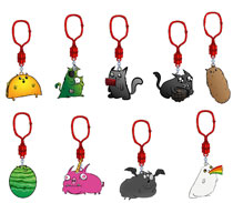 Image: Exploding Kittens Figure Hangers 24-Piece Blind Mystery Box Display  - Ucc Distributing