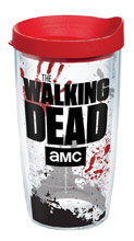 Image: Walking Dead Tumbler: Logo  (16-ounce) (w/Red Lid) - Tervis Tumbler Co.