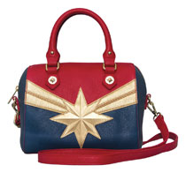 Image: Captain Marvel Crossbody Handbag  - Loungefly